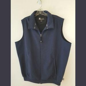 Jos A Banks Navy Leadbetter Golf Zip Vest Large